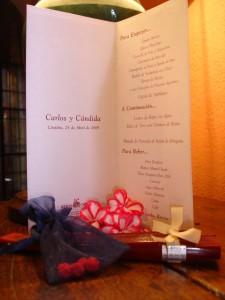 Menú y detalles para invitados