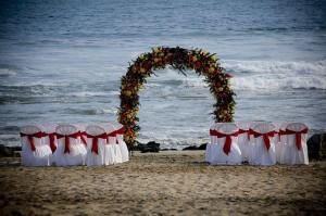 Arco a pie de playa