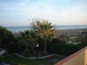 Situación de la villa sobre la playa.