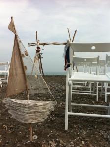 Detalle de ceremonia marinera en la playa