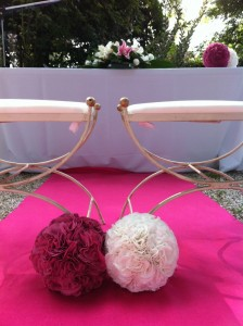 Bolas de seda para ceremonia